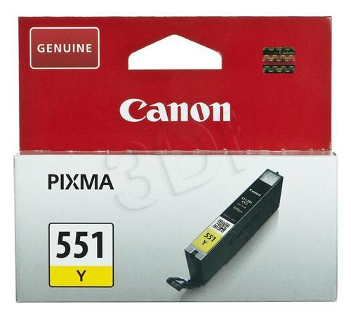 CANON Tusz Żółty CLI-551Y=CLI551Y=6511B001, 300 str., 7 ml