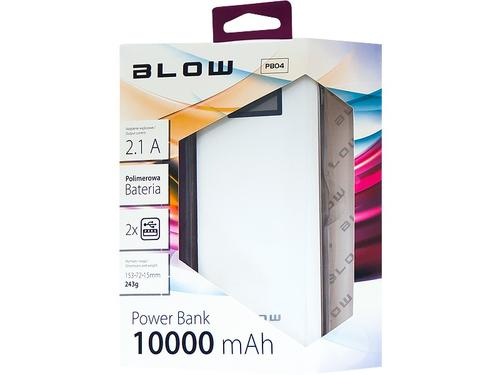 Blow Power Bank 10000mAh 2xUSB Bialy (White)