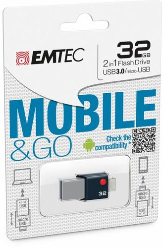 EMTEC Pendrive 32GB OTG T203 MobileGo