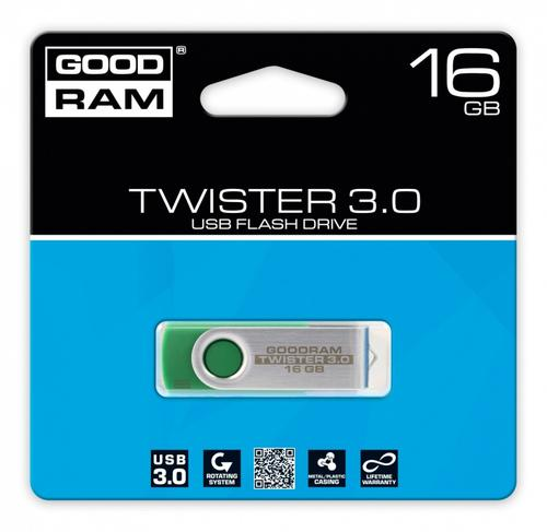 GoodRam TWISTER GREEN 16GB USB3.0