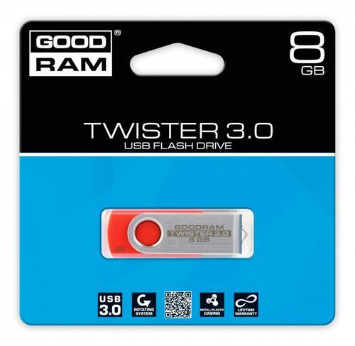GoodRam TWISTER RED 8GB USB3.0