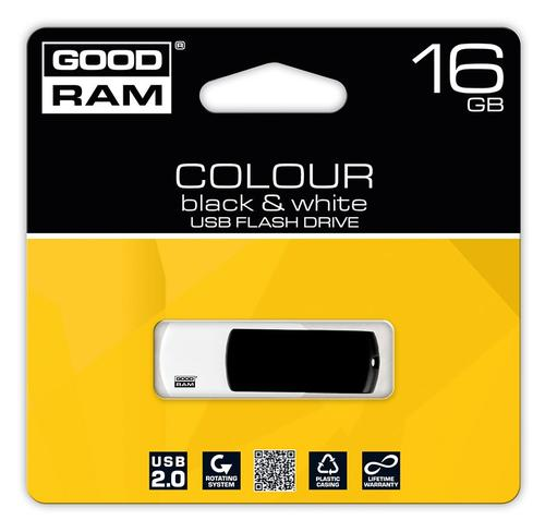 GoodRam Color Mix 16GB USB 2.0 Czarno Biały