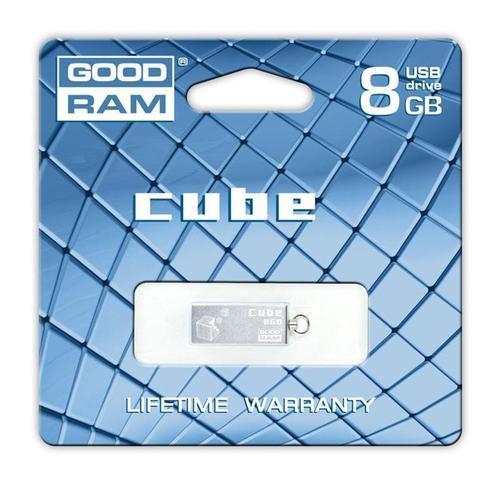 GoodRam Cube 8GB USB2.0 Srebrny