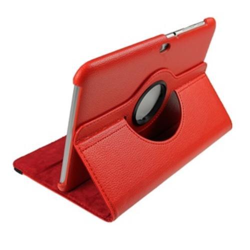 WEL.COM Etui obrotowe 360 stopni do samsung P7300 czerwon