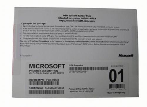 Windows 7 Home Premium 64-bit English