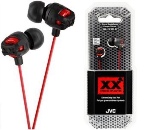 JVC Słuchawki douszne HA-FX101-R-E RED