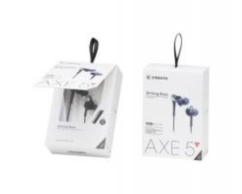 Cresyn AXE5s Białe Słuchawki do telefonu z pilotem i mikrofonem