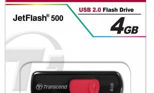 Transcend JETFLASH 500 4GB USB2.0 BLACK