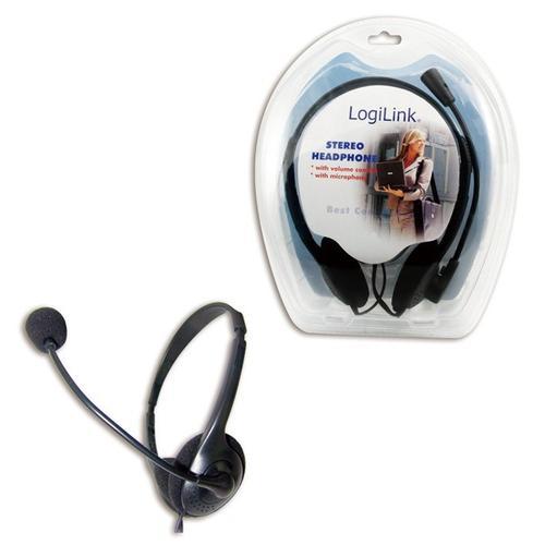 LogiLink Słuchawki multimedialne stereo z mikrofonem (HS0001)