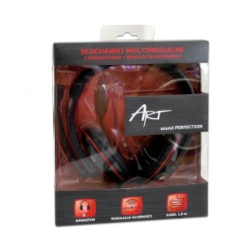 ART Słuchawki AP-55 z mikrofonem multimedialne