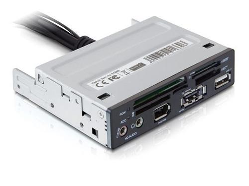DELOCK Frontpanel 3.5'' Czytnik Kart 43in1/USB/eSata/Audio/FireWire Czarny