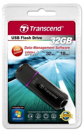 Transcend JETFLASH 600 32GB USB2.0 BLACK 32/18 MB/s High-Speed 200x