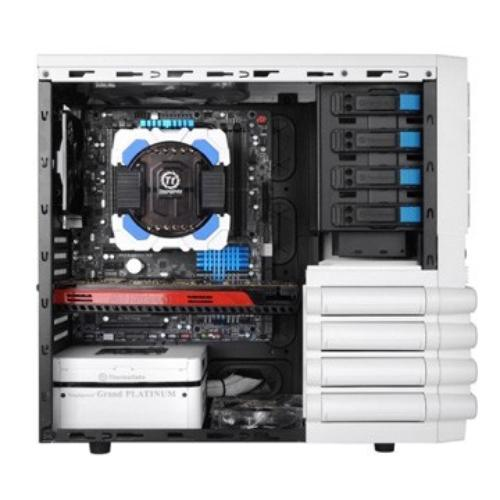 Thermaltake LEVEL10 GTS Snow Edition USB 3.0 Window (120mm 3x200mm, LED), biała