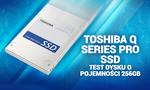 Toshiba Q Series PRO SSD Test dysku o pojemności 256GB