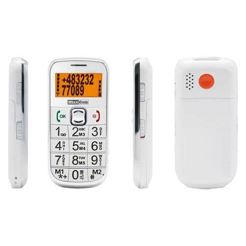 MaxCom 460BB BIAŁY Poliphone/Big button