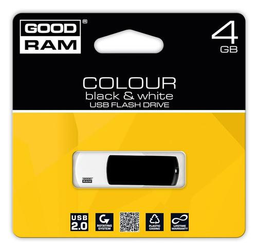 GoodRam Color Mix 4GB USB 2.0 Czarno Biały