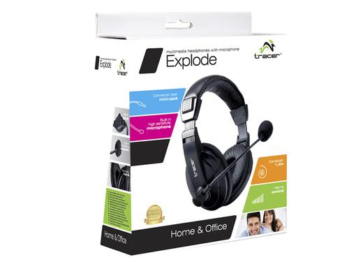 Tracer Słuchawki TRACER EXPLODE BLACK