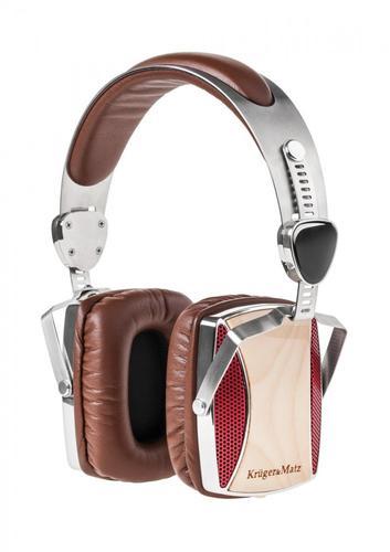 Kruger & Matz Słuchawki przewodowe nauszne seria drewniana KM0665MP (klon)