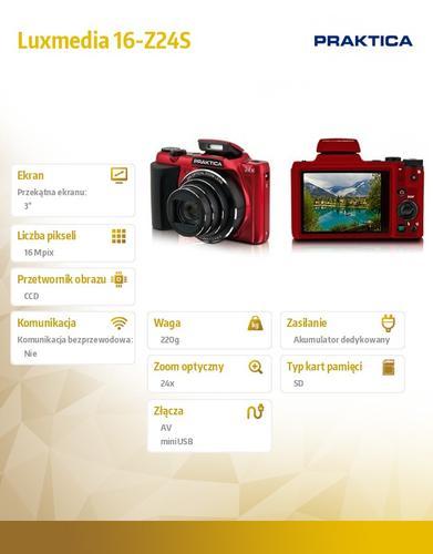 Praktica luxmedia 16-Z24S czerwony