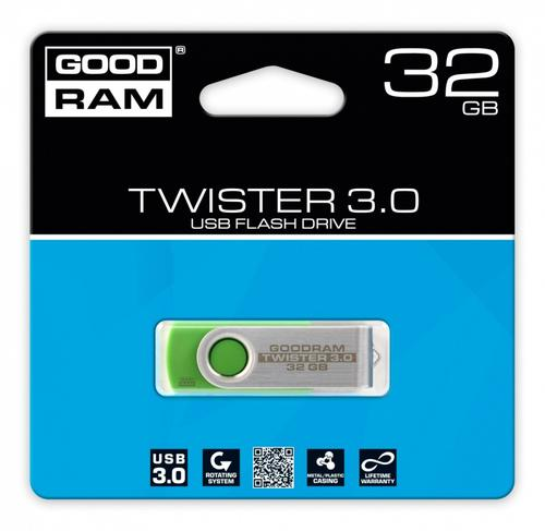 GoodRam TWISTER GREEN 32GB USB3.0