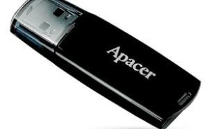 Apacer Flash Drive AH322 8GB USB 2.0 Black