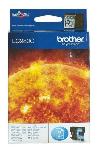 BROTHER Tusz Niebieski LC980C=LC-980C, 260 str.