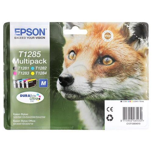 EPSON Tusz T1285=C13T12854010, Zestaw CMYK, T1281+T1282+T1283+T1284