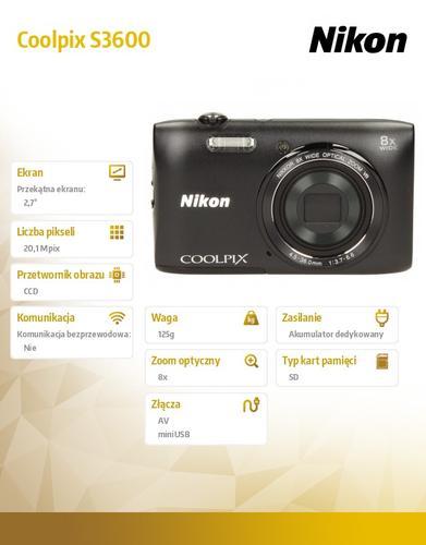 Nikon S3600 black