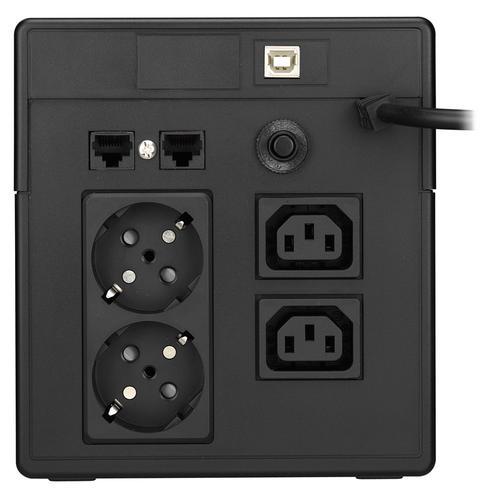 Lestar UPS V-1000S AVR LCD 2xIEC + 2xSCH USB RJ 45