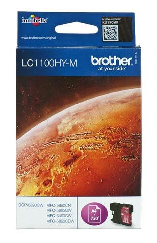 BROTHER Tusz Czerwony LC1100HYM=LC-1100HYM, 750 str.