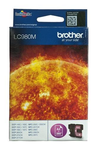 BROTHER Tusz Czerwony LC980M=LC-980M, 260 str.