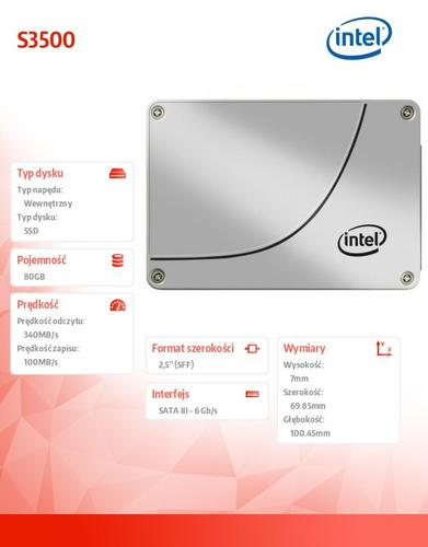 Intel S3500 80GB SATA3 2,5' 340/100 MB/s