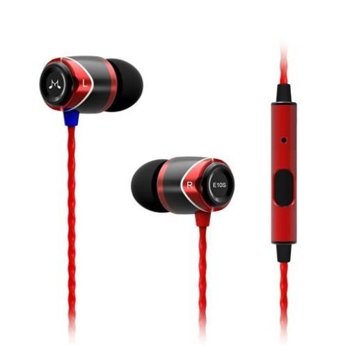 SoundMAGIC E10s czerwone uniwersalne do smartphonów