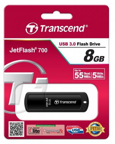 Transcend JETFLASH 700 8GB USB 3.0 BLACK 55/5 MB/s