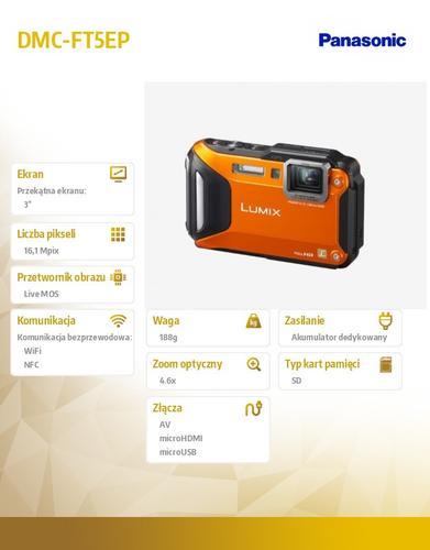Panasonic DMC-FT5EP orange