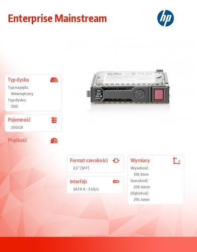 HP 200GB 3G SATA MLC 2.5in SSD 653118-B21