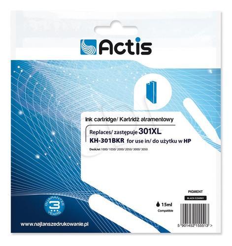 Actis KH-301BKR tusz czarny do drukarki HP (zamiennik HP 301XL CH563EE) Standard