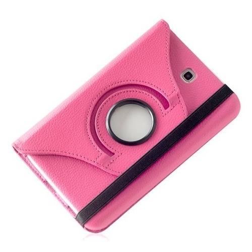 """WEL.COM Etui obrotowe 360° Galaxy Tab 3 7"""" T210/T211 różowe"""