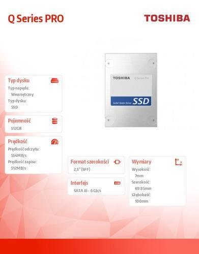 Toshiba Q Series PRO 512GB SATA3 2,5' 554/512MB/s 7mm