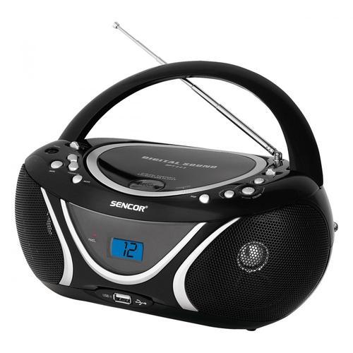 SENCOR Przenośny radioodtwarzacz CD odtwarza CD-R/RW ,MP3, wejscie USB