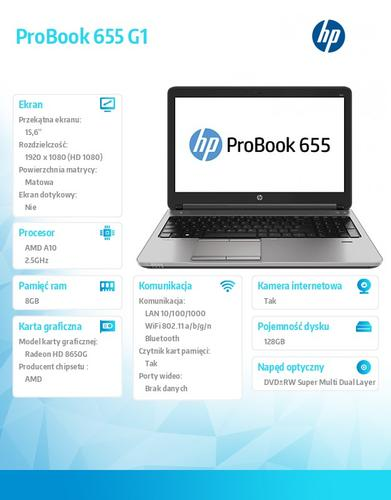 HP 655 G1 A10-5750 W78P 128/8G/DVRW/15,6 F1P82EA