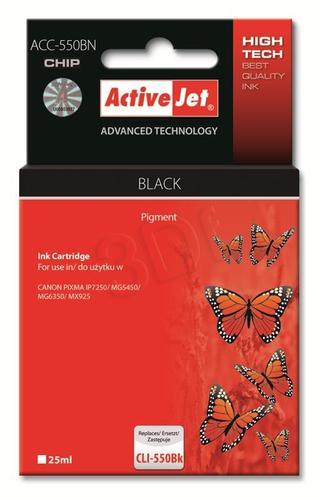 ActiveJet ACC-550BN tusz czarny do drukarki Canon (zamiennik Canon PGI-550Bk) Supreme/ chip