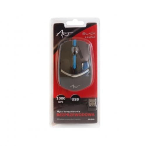 ART Mysz bezprzewodowo-optyczna AM-84A czarna