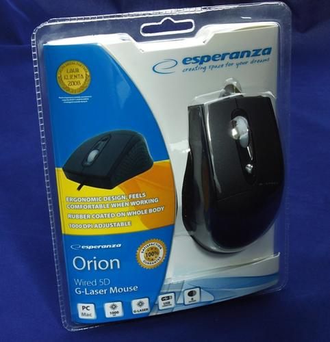 ESPERANZA ORION Mysz Optyczna G-Laser EM107L USB