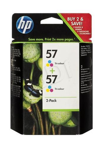 HP Tusz Kolor HP57*2=C9503AE, 2xKolor, 2xC6657AE, 2x400 str./2x17 ml