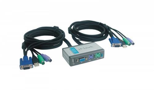 D-Link DKVM-2KU 2xK/V/M 2048x1536/w.cables USBx2