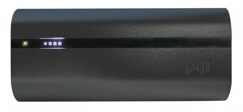 PQI POWER BANK 6000VmAh DUAL-USB 2,4/1,5A,BLACK, ALUMINIOWY