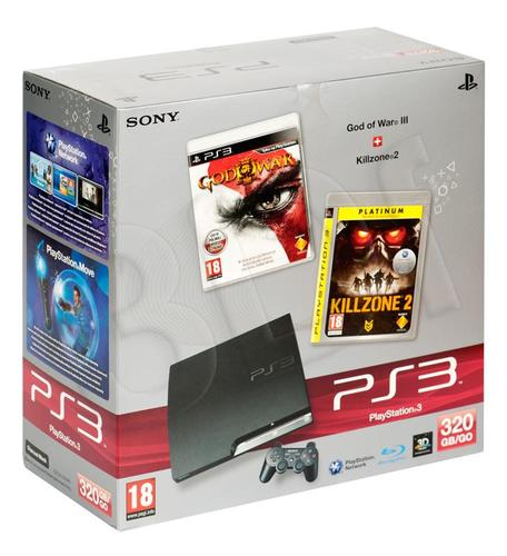 PS3 SLIM 320GB (+God of War III +Killzone 2)