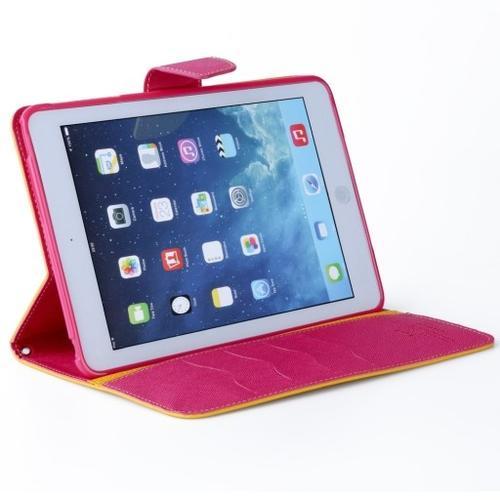 """WEL.COM Etui Fancy Diary do LG G pad 8.3"""" żółto-różowe"""