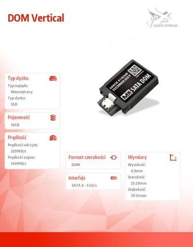 Mach Xtreme SATA DOM SSD 16GB 220/140 MB/s Vertical SLC